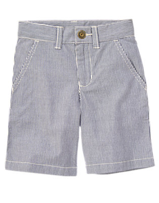Blue Stripe Engineer Stripe Short by Gymboree