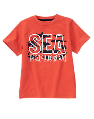 Boys Submarine Orange Sea Explorer Tee by Gymboree