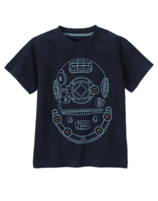 Midnight Blue Scuba Helmet Tee by Gymboree