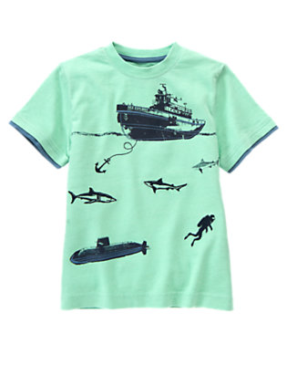 Scuba Green Deep Sea Sharks Tee by Gymboree
