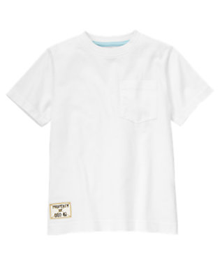 Boys White Pocket Tee by Gymboree