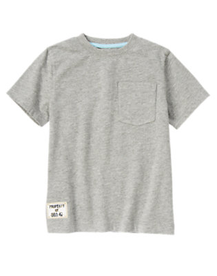 Heather Grey Pocket Tee by Gymboree