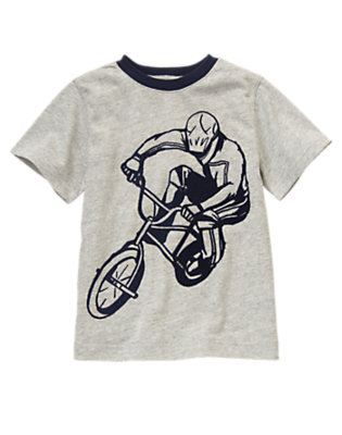 Boys Heather Grey Biker Ringer Tee by Gymboree