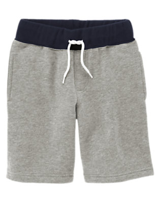 Heather Grey Drawstring Fleece Short by Gymboree