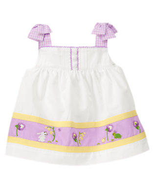 White Bunny Swing Top by Gymboree