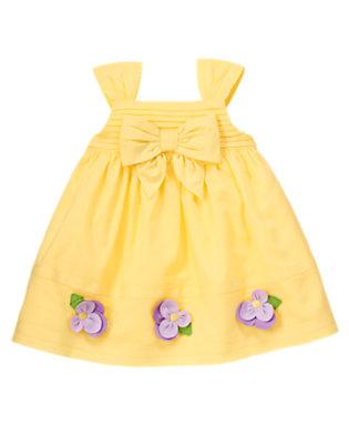 Golden Sun Petal Flower Dobby Dress by Gymboree