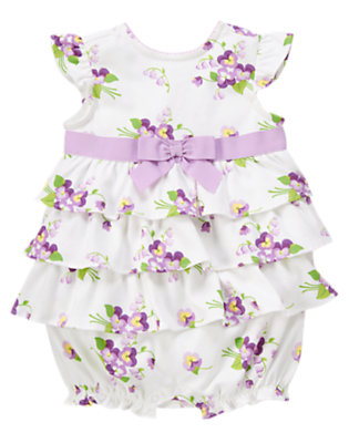 Purple Petal Floral Floral Print Bubble by Gymboree