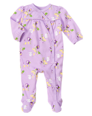Purple Petal Bunny Footed One-Piece by Gymboree