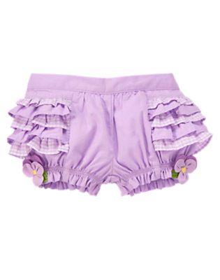Purple Petal Flower Ruffle Bloomer by Gymboree