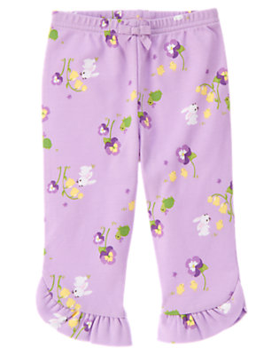 Purple Petal Bunny Cuff Pant by Gymboree