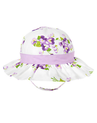 Purple Petal Floral Floral Sunhat by Gymboree
