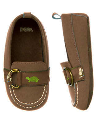 Baby Rabbit Brown Turtle & Rabbit Crib Moccasin by Gymboree