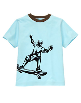 Ballpark Blue Skateboarder Ringer Tee by Gymboree