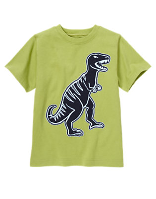 Boys Green Apple Tyrannosaurus Rex Tee by Gymboree