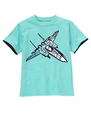 Boys Sea Blue Jet Tee by Gymboree