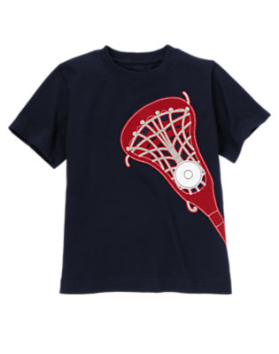 Boys Midnight Blue Lacrosse Tee by Gymboree
