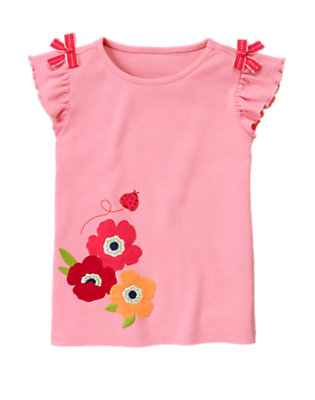 Spring Pink Bow Ladybug Poppy Tee by Gymboree