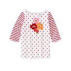 Bow Poppy Dot Stripe Tee