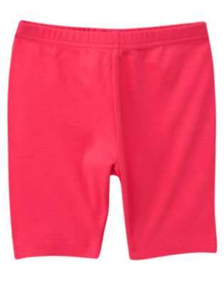 Girls Poppy Pink Bike Short by Gymboree