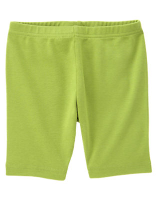 Girls Leaf Green Bike Short by Gymboree