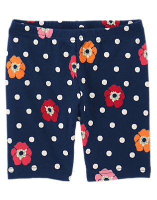 Navy Dot Poppy Dot Poppy Bike Short by Gymboree