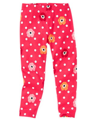 Girls Pink Dot Poppy Dot Poppy Legging by Gymboree