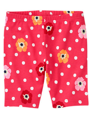 Pink Dot Poppy Dot Poppy Bike Short by Gymboree