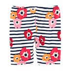 Stripe Poppy Bike Short
