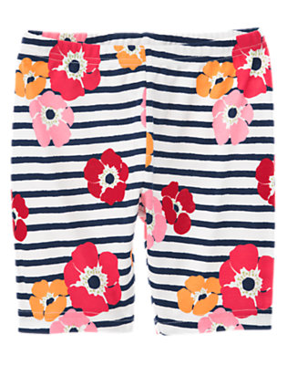 Navy Stripe Poppy Stripe Poppy Bike Short by Gymboree