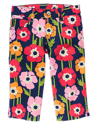 Girls Navy Poppy Poppy Capri Jean by Gymboree