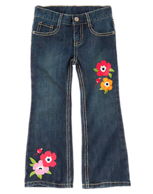 Girls Denim Poppy Bootcut Jean by Gymboree