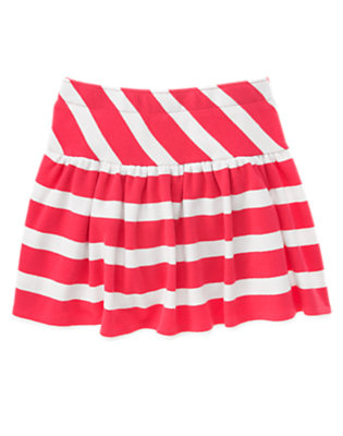 Girls Poppy Pink Stripe Stripe Skort by Gymboree