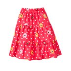 Dot Poppy Tiered Skirt