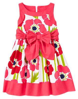 White Poppy Poppy Bow Sash Dress by Gymboree