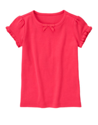 Poppy Pink Ruffle Sleeve Tee by Gymboree