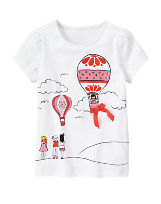 White Gem Hot Air Balloon Tee by Gymboree