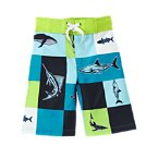 Shark Patchwork Swim Trunk