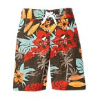 Tropical Hibiscus Swim Trunk