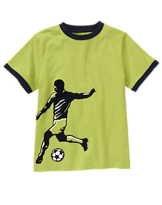 Field Green Soccer Player Tee by Gymboree