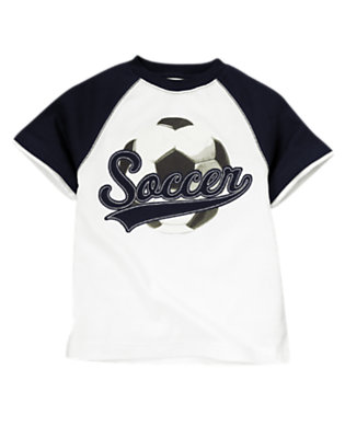 White Soccer Ball Tee by Gymboree