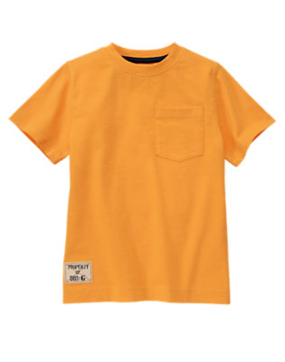 Boys Papaya Orange Pocket Tee by Gymboree