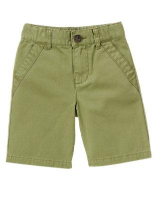 Dusty Olive Green Chino Short by Gymboree