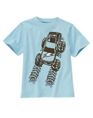 Boys Sky Blue Monster Truck Tee by Gymboree
