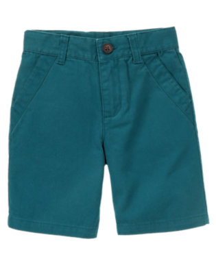 Boys Dark Teal Chino Short by Gymboree