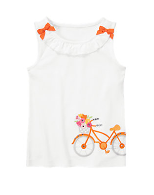 White Gem Bicycle Bow Tank Top by Gymboree