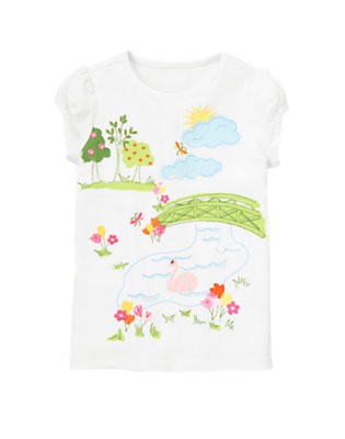 White Swan Park Scenic Tee by Gymboree