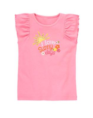 Hydrangea Pink Gem Sunny Days Flutter Sleeve Tee by Gymboree