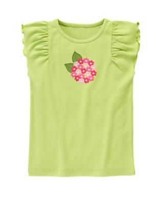 Green Tea Hydrangea Flutter Sleeve Tee by Gymboree