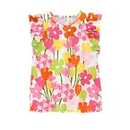 Flower Flutter Sleeve Tank Top