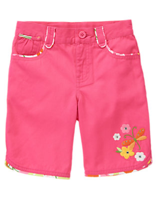 Girls Tulip Pink Gem Dragonfly Bermuda Short by Gymboree
